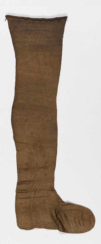 De beroemde kousen uit het Palmhoutwrak gefotografeerd door Margareta Svensson