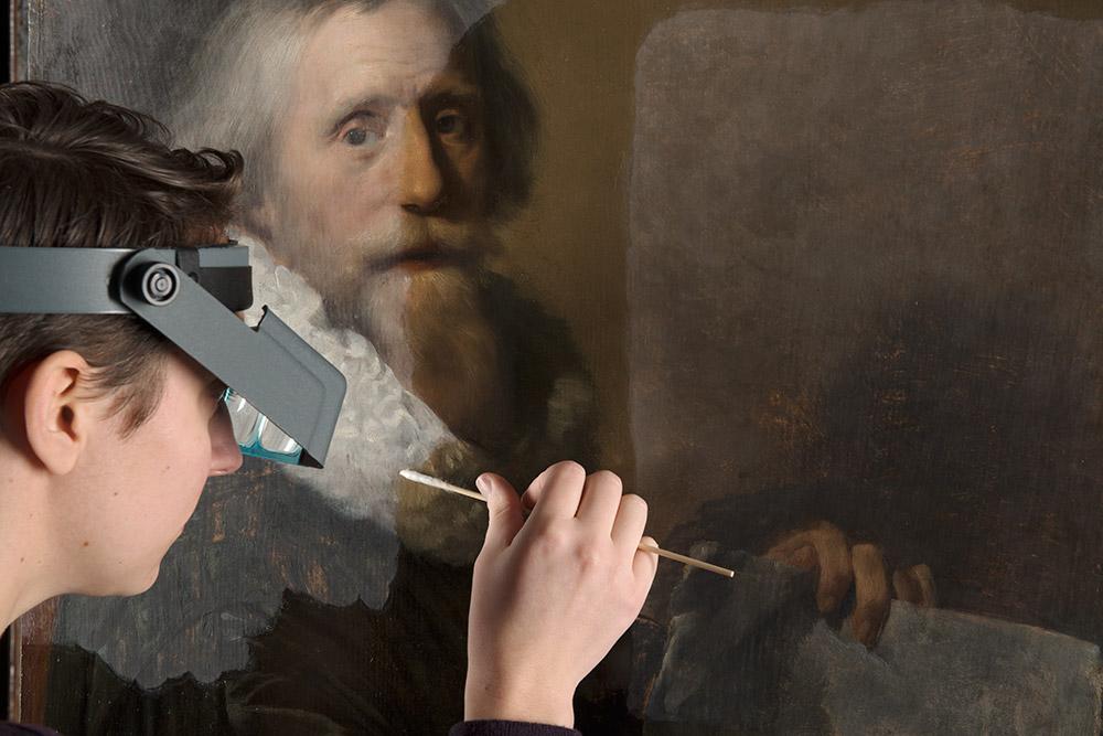 fotografie tijdens restauratie van schilderij