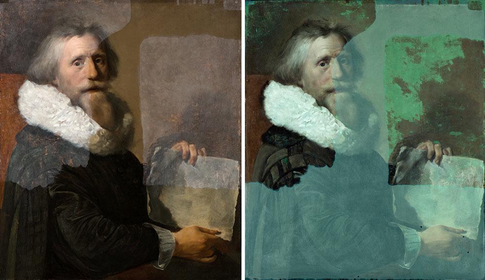Hoge resolutie foto's en UV-foto's bij restauratie van schilderijen