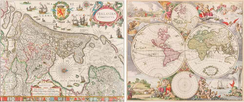 Antieke kaarten reproduceren door professionele fotograaf