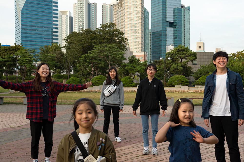 Momenten met een familie uit Korea