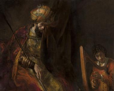 Saul en David van Rembrandt gefotografeerd na restauratie