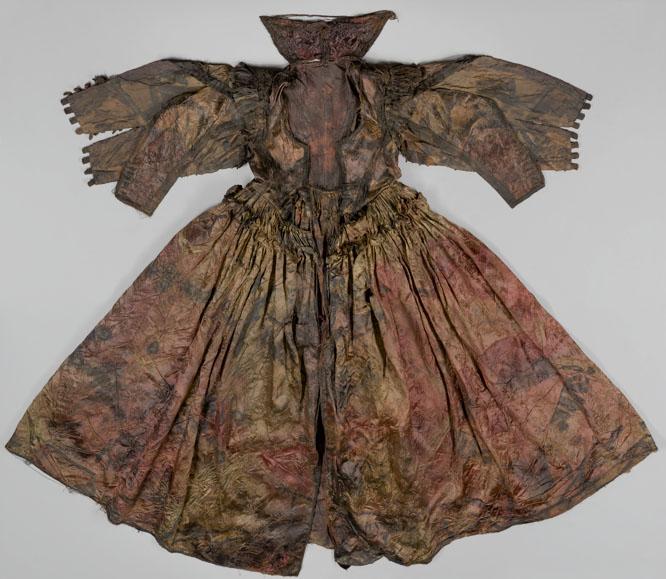 Foto van archeologisch textiel door Margareta Svensson