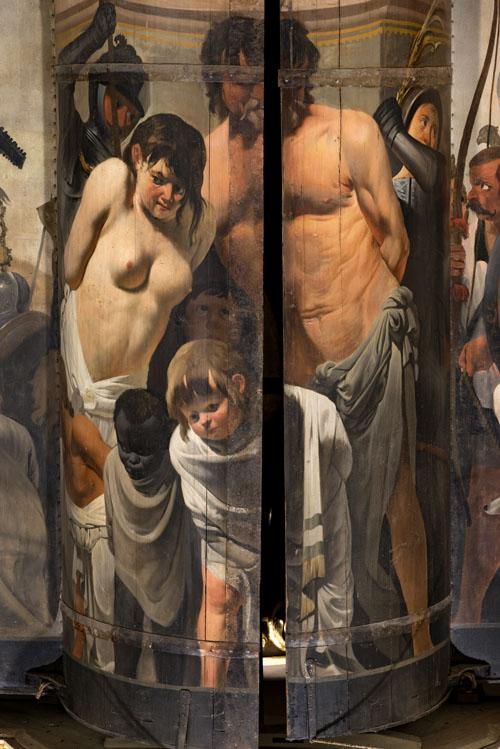 Detail van orgelluiken door Caesar van Everdingen