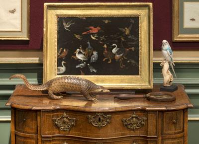 Foto's van de historische interieurs bij Kunsthandel P. de Boer