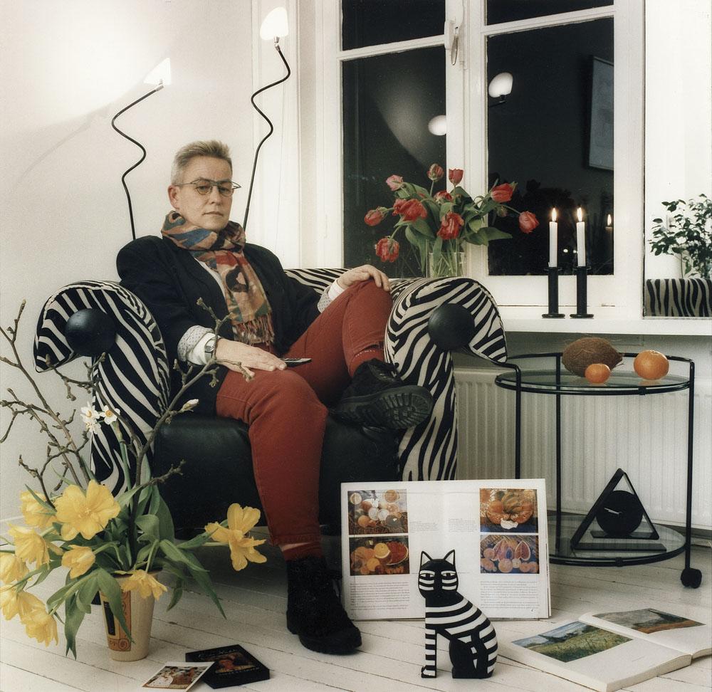 Marijke gefotografeerd voor de televisie door Margareta Svensson